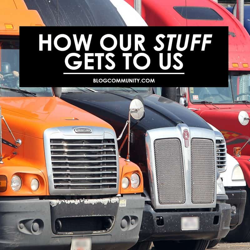 how our stuff gets to us - photo of semi trucks - oklahoma technical college