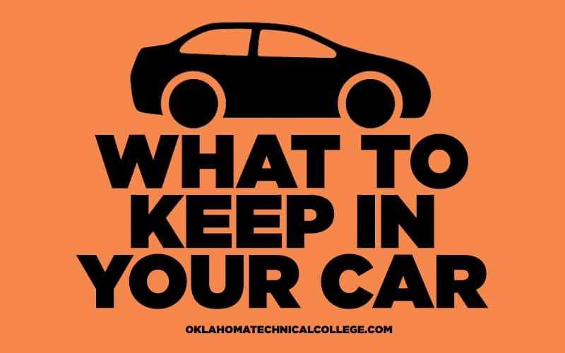 icon of car - what to keep in your car - blog - oklahoma technical college - tulsa, ok