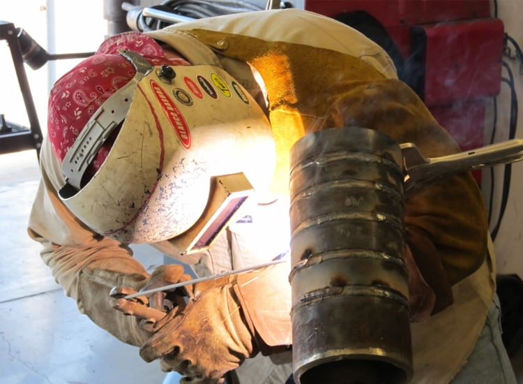 Stick Welding at our Welding School in Tulsa, Oklahoma