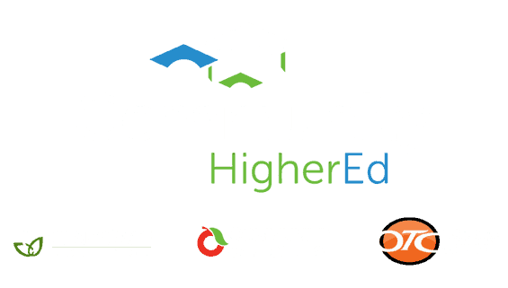 Community HigherEd logo with otc ccc csc logos