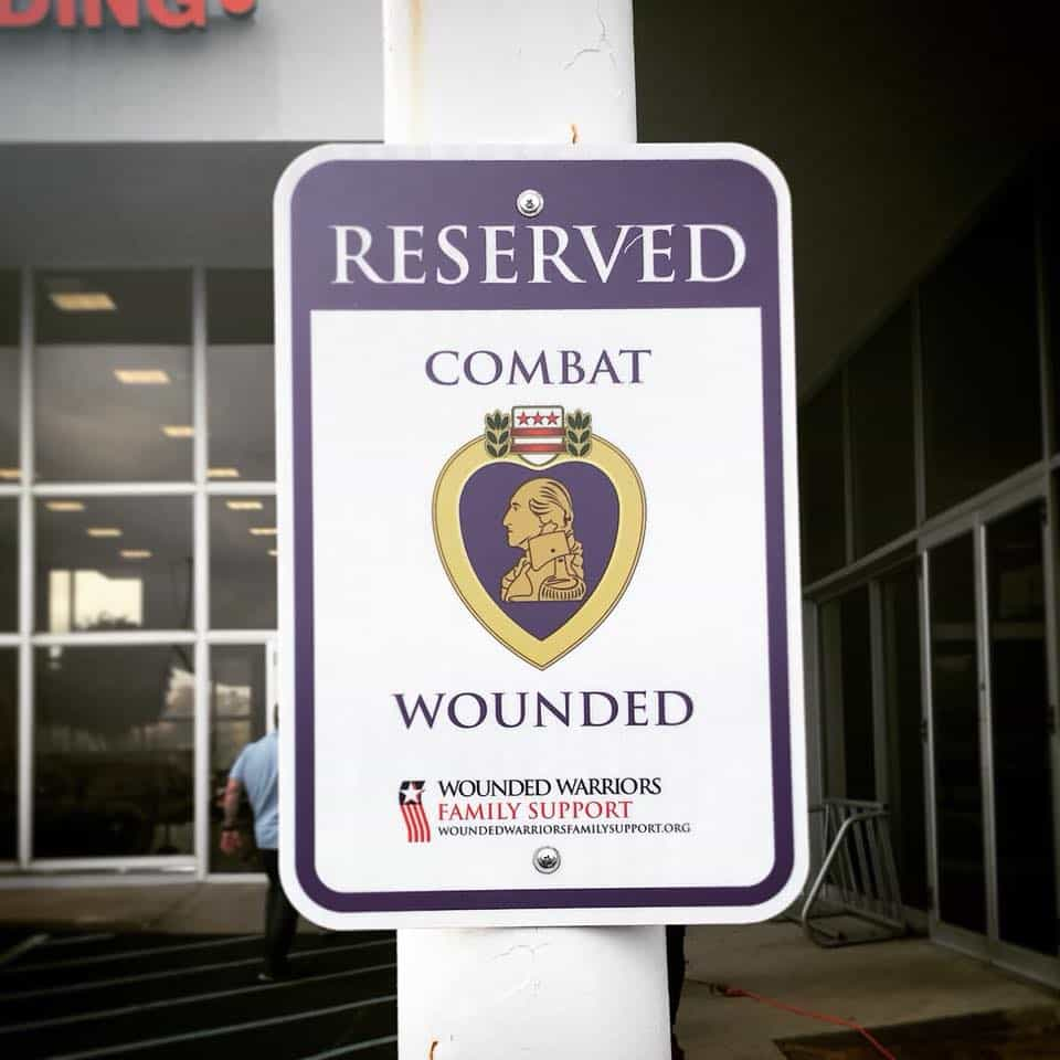 Purple Heart Parking Spot