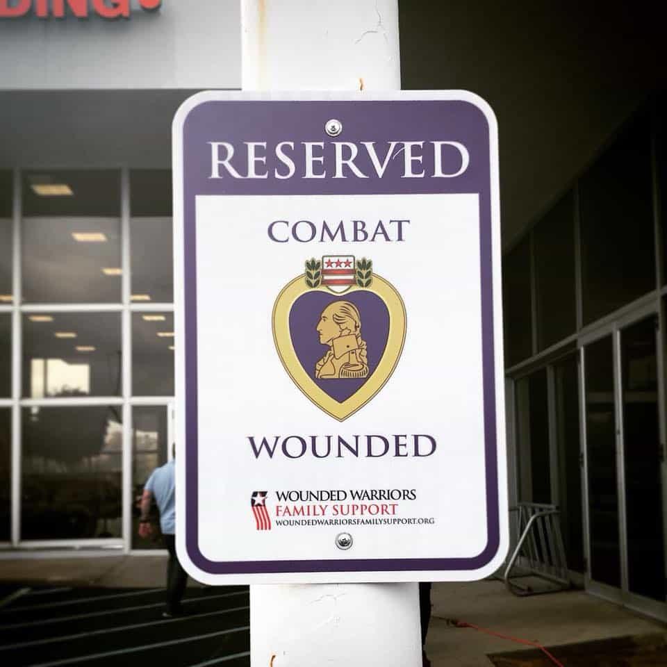 Purple Heart Parking Spot