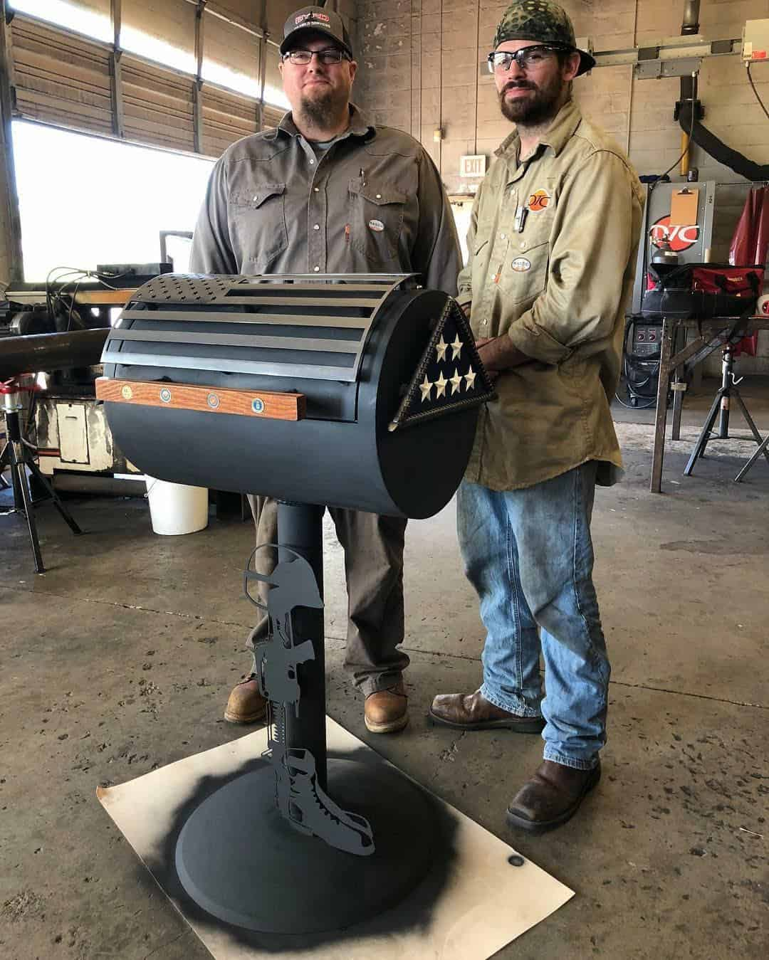 OTC Student and Instructor Create Grill for Folds of Honor