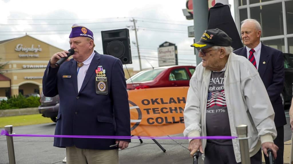 OTC Purple Heart Ribbon Cutting