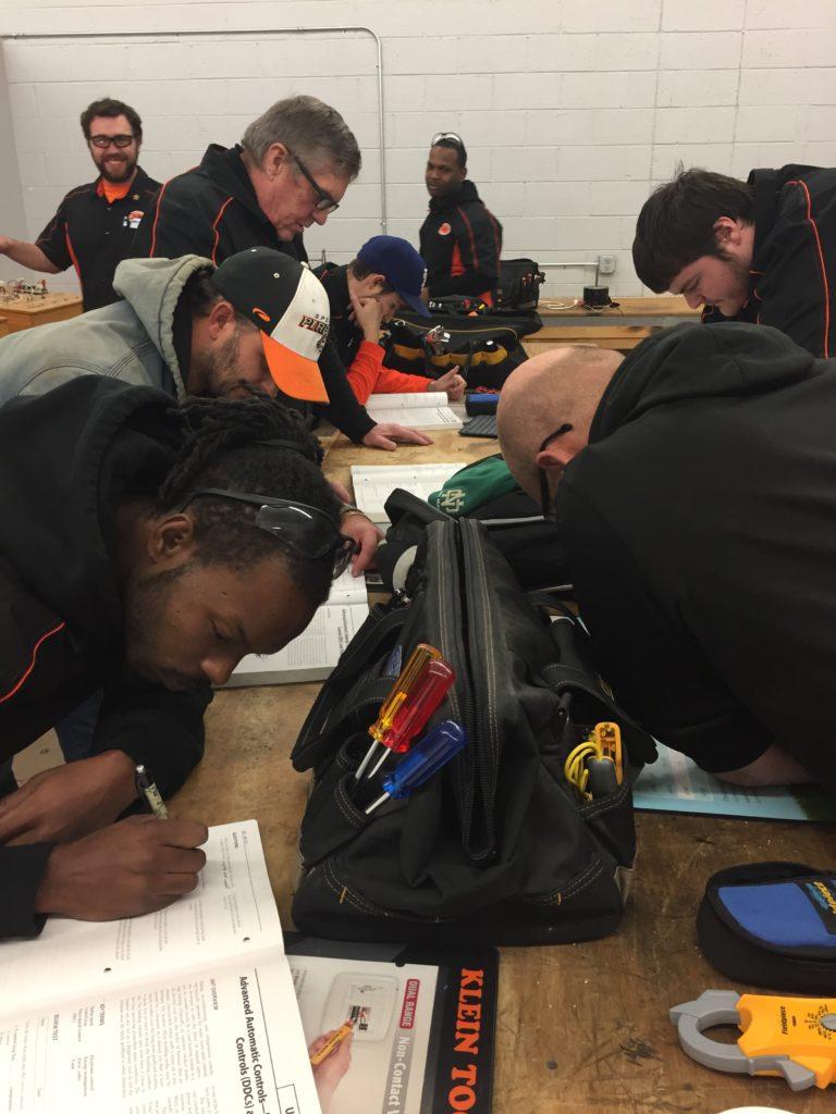 OTC HVAC/R Students Taking Notes