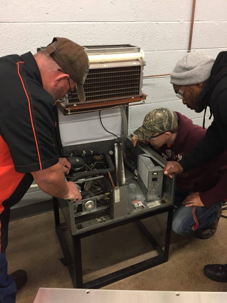 HVAC Student Training at OTC